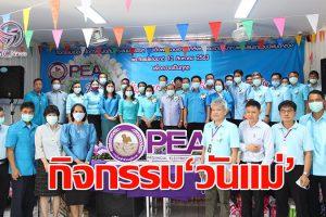 PEA จัดกิจกรรมมอบความสุข ความปลอดภัย เนื่องในโอกาสวันแม่แห่งชาติ ประจำปี 2563
