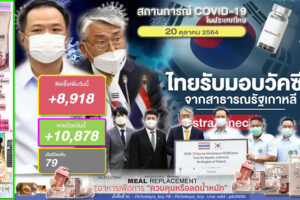 ครม.อนุมัติ 54,506ล้านบาท แจกลดค่าครองชีพอีก 4 โครงการ!!ยอดติดเชื้อลด 8,918 ราย หายป่วย 10,878 ราย เสียชีวิต 79 ราย!! (คลิกอ่าน)