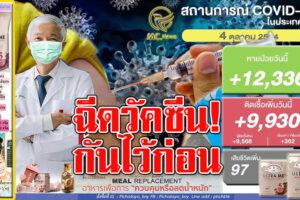 """""""หมอยง""""บอกเอง!!ฉีดวัคแล้วยังติดเชื้อเรื่องปกติ แต่ไม่มีอาการโคม่า!! ติดเชื้อลด 9,930 ราย หายป่วย  12,336 รายเสียชีวิต  97ราย!! (คลิกอ่าน)"""